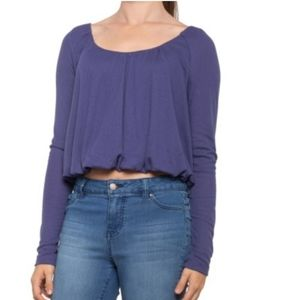 NWT Free People True Side Thermal Long Sleeves Top